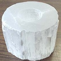 Selenite Candle Holder from Morocco
