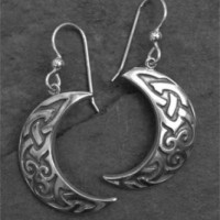 Silver Luna Earrings