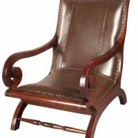 Swirl Leather Arm Chair