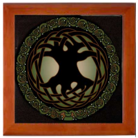 Tree of Life Mahogany Box