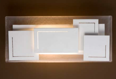 White Cube Sconce