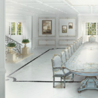 White Fratelli Dining Hall Set