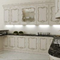 White Fratelli Kitchen Cabinets