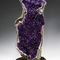 Amethyst on Wood Base, Uruguay