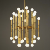 Bamboo Chandelier gold