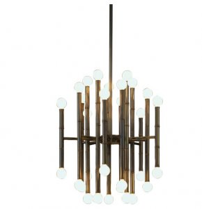 Bamboo Chandelier patina