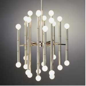 Bamboo Chandelier silver