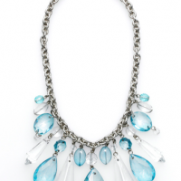 Blue Crystal Chandelier Necklace