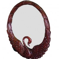 Carved Swan Mirror