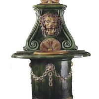 Ceramic Lion Fountain