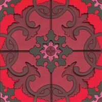 Cherry Red Moroccan Tile