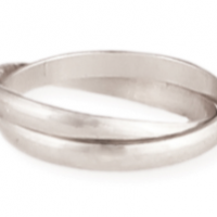 Double Band Silver Ring