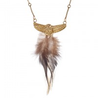 Feather Owl Necklace