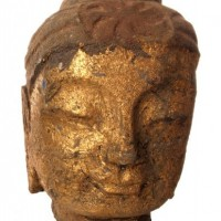 Gold Face Buddha Head