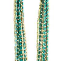Gold & Green Bead Necklace
