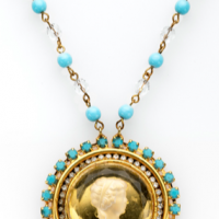 Gold Intaglio Necklace
