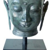 Green Buddha Head