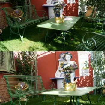 Green Garden Furniture Set