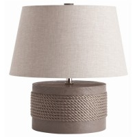 Grey Rope Table Lamp