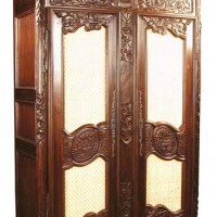 Hand-Carved Armoire