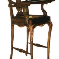 Hand-Carved High Chair