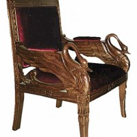 Hand-Carved Swan Chair
