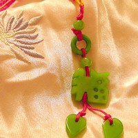 Happiness & Good Luck Jade Charm