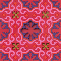 Hot Pink Moroccan Tile