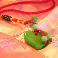 Jade Heart Love Charm