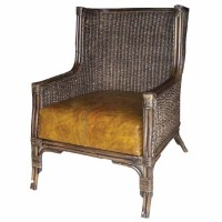 Leather Rattan Armchair