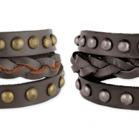 Leather Stud Wrap Bracelet