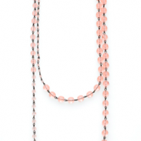 Long Pink Loop Necklace