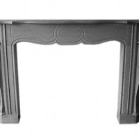 Oval Frame Fireplace