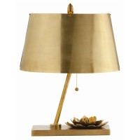 Oval Shade Lotus Lamp