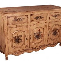Painted Floral Sideboard