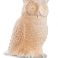 Porcelain Owl Lamp