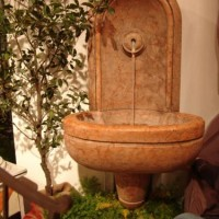 Red Marble Wall Fountain
