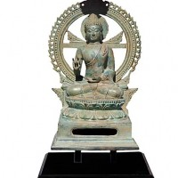 Seated Halo Buddha