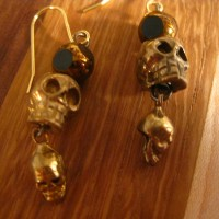 Skull on Skull Earrings