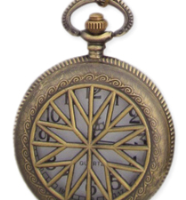 Star Cutout Pocket Watch Necklace Pendant