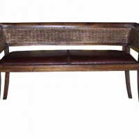 Wicker Back Bench