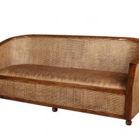 Woven Rattan Couch