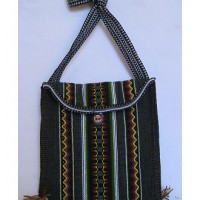 Alpaca Wool Purse, black