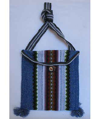 Alpaca Wool Purse, blue