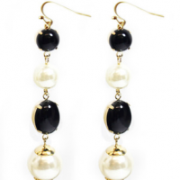 B & W Pearl Earrings