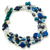 Bird's Eye Lapis Bracelet
