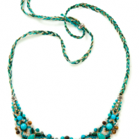 Braided Turquoise Necklace, detail