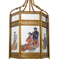 Chinoiserie Chandelier, gold