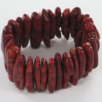 Chunky Red Coral Bracelet