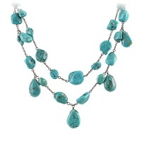 Chunky Turquoise Drop Necklace